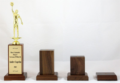 trophy with various sized bases