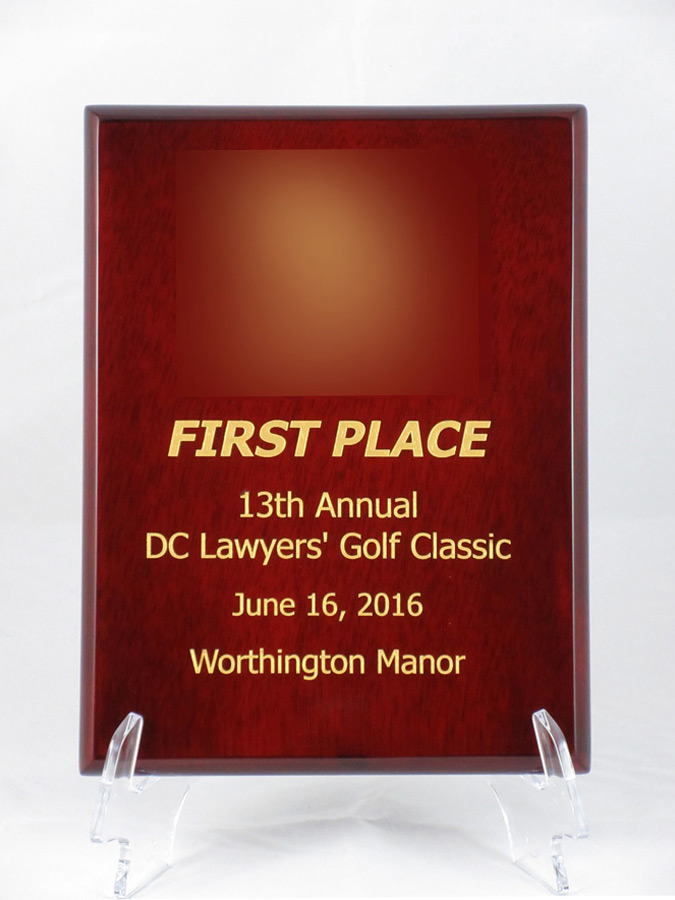 first place award, 13th Annual DC Lawyers' Golf Classic